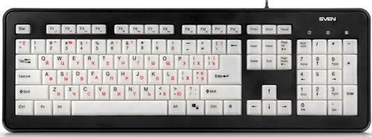 Клавиатура Sven KB-C7300EL USB черный
