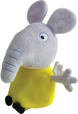 Мягкая игрушка слоненок Peppa Pig Слоник Эмили плюш текстиль серый желтый 20 см