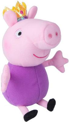 Мягкая игрушка свинка Peppa Pig Джордж принц текстиль розовый фиолетовый 20 см