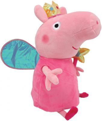Мягкая игрушка свинка Peppa Pig Пеппа Фея с палочкой плюш полиэстер розовый 20 см peppa pig транспорт 01565