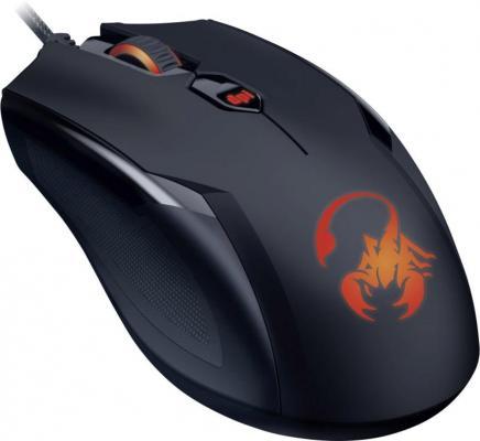 Мышь проводная Genius Ammox X1-400 чёрный USB цена и фото