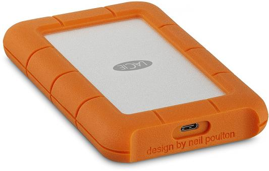 "Внешний жесткий диск 2.5"" USB-C 2Tb Lacie Rugged Mini STFR2000800 оранжевый цена и фото"