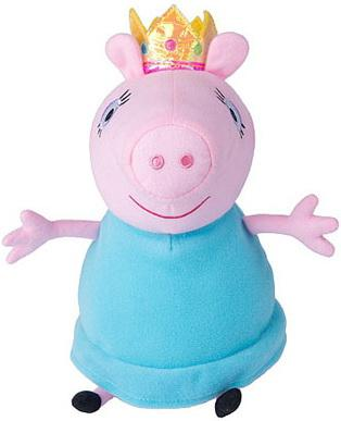 Мягкая игрушка свинка Peppa Pig Мама Свинка королева текстиль плюш розовый голубой 30 см peppa pig playing football