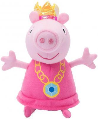 Мягкая игрушка свинка Peppa Pig Пеппа-принцесса 20 см розовый плюш  31151 мягкая игрушка peppa pig джордж с машинкой свинка розовый текстиль 18 см 29620