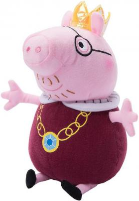 Мягкая игрушка свинка Peppa Pig Папа Свин король текстиль плюш розовый 30 см peppa pig транспорт 01565