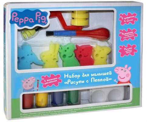 Набор для рисования Peppa Pig Свинка Пеппа - Рисуем с Пеппой от 3 лет peppa pig playing football