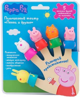 Пальчиковый театр Peppa Pig Пеппа и друзья 5 предметов 29987 игровой набор peppa pig пеппа и друзья 6 предметов 24312