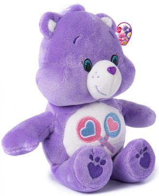 """Мягкая игрушка медведь РОСМЭН """"Care Bears"""" - Милашка текстиль сиреневый 20 см"""