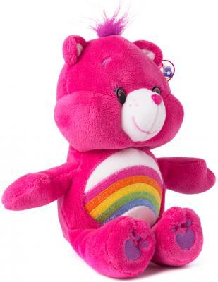 """Мягкая игрушка медведь РОСМЭН """"Care Bears"""" - Радуга текстиль розовый 20 см"""