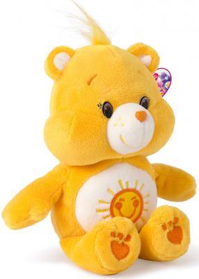 """Мягкая игрушка медведь РОСМЭН """"Care Bears"""" - Лучик текстиль желтый 20 см"""