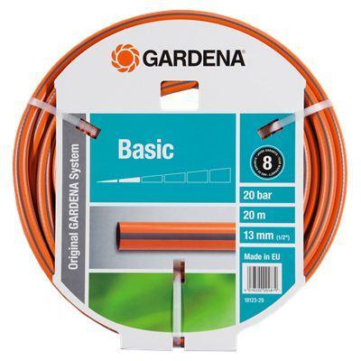 Шланг Gardena Basic 1/2 20м 18123-29.000.00 шланг садовый gardena basic 13 мм 1 2 20 м 18123 29
