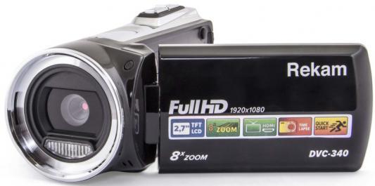 Цифровая видеокамера Rekam DVC-340 черный rekam vest 13 l черный