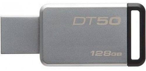 Флешка USB 128Gb Kingston DataTraveler 50 DT50/128GB серебристо-черный флешка usb 128gb corsair voyager go cmfvg 128gb черный