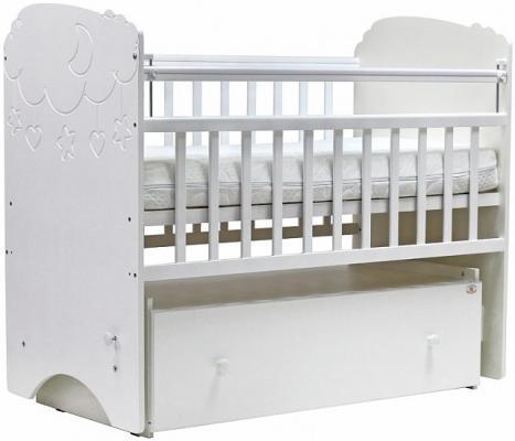 Купить Кроватка с маятником Топотушки Софья (арт. 27/белый), массив березы, Кроватки с маятником