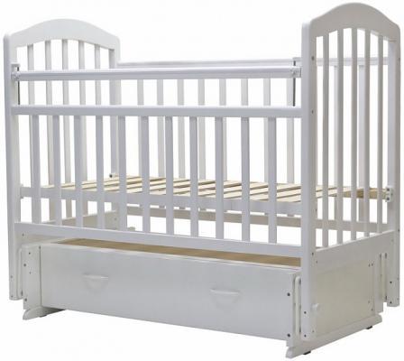 Кроватка с маятником Топотушки Лира-7 (арт. 30/белый)