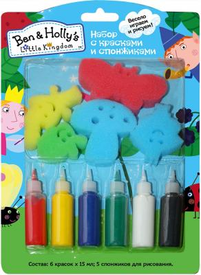 Набор для творчества РОСМЭН набор с красками и спонжиками, Ben&Holly от 3 лет 32244
