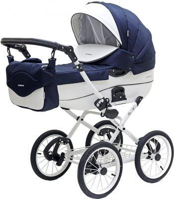 Коляска 2-в-1 Riko Bruno Ecco Prestige (11/синий-белый) коляска 2 в 1 riko bruno ecco prestige 14 бежевый