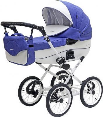 Коляска 2-в-1 Riko Bruno Ecco Prestige (19/фиолетовый-белый) коляска 2 в 1 riko bruno ecco prestige 14 бежевый