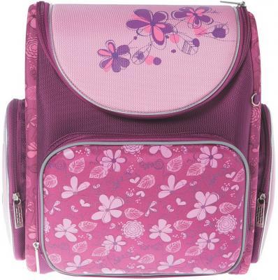 Ранец с уплотненной спинкой Silwerhof Flowers 830740 розовый