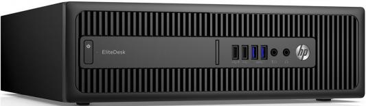 Системный блок HP EliteDesk 800 G2 SFF i5-6500 3.2GHz 8Gb 256Gb SSD HD530 DVD-RW Win10Pro клавиатура мышь черный X3J19EA