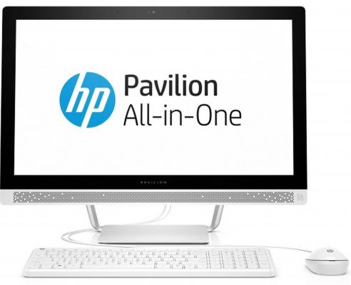 "Моноблок 27"" HP Pavilion 27-a234ur 1920 x 1080 Intel Core i3-7100T 4Gb 1Tb Intel HD Graphics 620 использует системную Windows 10 Home белый 1AX05EA"