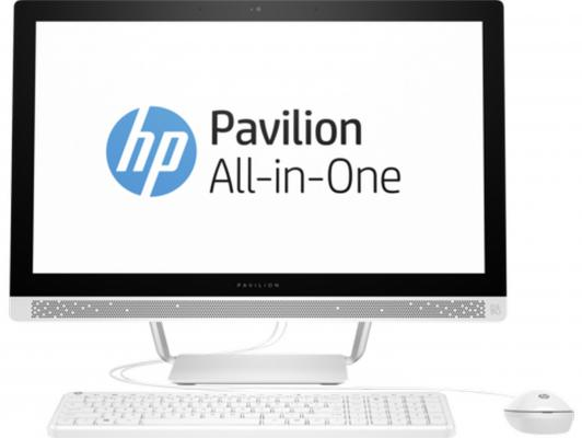 "Моноблок 23.8"" HP Pavilion 24-b236ur 1920 x 1080 Intel Core i3-7100T 4Gb 1Tb Intel HD Graphics 630 использует системную Windows 10 белый 1AW64EA"