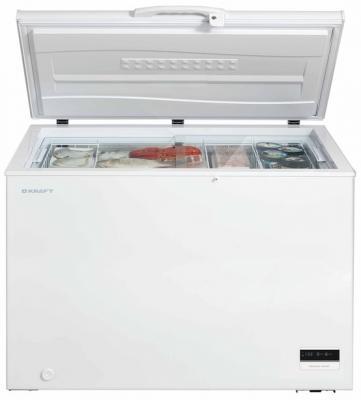 Морозильная камера Kraft BD(W)-275BLG белый морозильный ларь kraft bd w 350qx белый