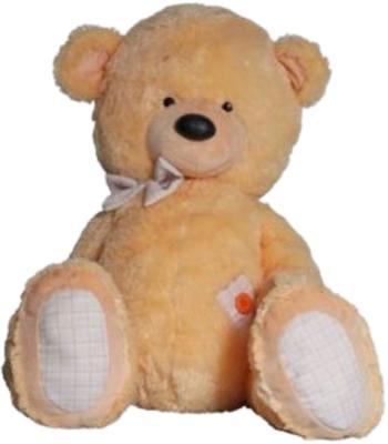 Мягкая игрушка медведь Волшебный мир Мишка Ванильный текстиль плюш бежевый 100 см