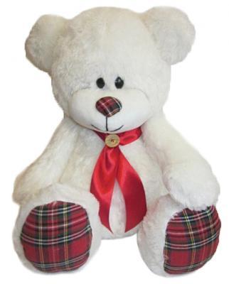 Мягкая игрушка медведь Волшебный мир Мишка Курносик 60 см белый текстиль плюш  7С-1395-РИ