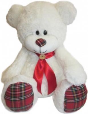 Мягкая игрушка медведь Волшебный мир Мишка Курносик 45 см белый текстиль 7С-1411-РИ шнурок белый 45 49 см текстиль