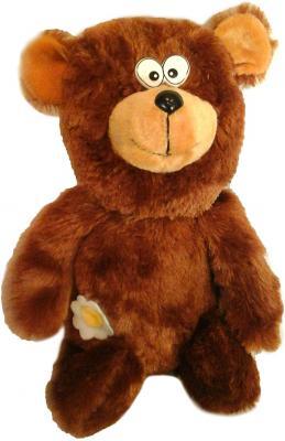 Мягкая игрушка медведь Волшебный мир Ромашка текстиль коричневый 50 см