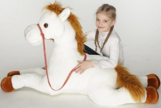 Мягкая игрушка лошадь Волшебный мир Сивка плюш белый 115 см волшебный мир шапочка огурец