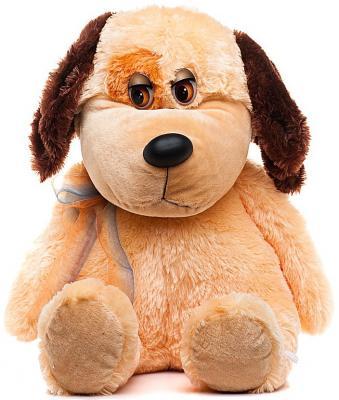 Мягкая игрушка собака Волшебный мир Песик-Барбосик 85 см коричневый искусственный мех 7С-1209-РИ мягкая игрушка собака orange чихуа kiki малиновый блеск текстиль искусственный мех розовый коричневый 25 см ld010