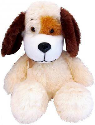 Мягкая игрушка собака Волшебный мир Песик Кнопкин 45 см бежевый искусственный мех 7С-1152-РИ малышарики мягкая игрушка собака бассет хаунд 23 см