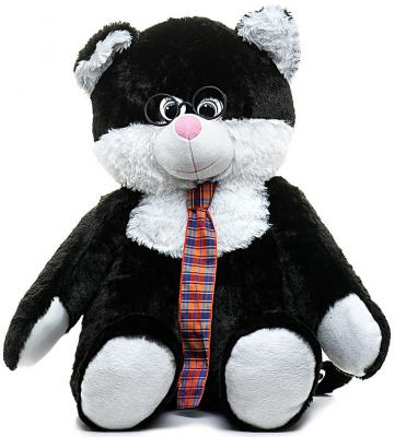Мягкая игрушка кот Волшебный мир Кот Учёный 85 см белый черный плюш 7с-1227-ри