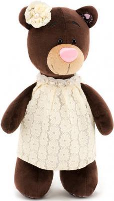 Мягкая игрушка медведь ORANGE Milk в кружевном платье текстиль искусственный мех коричневый 25 см