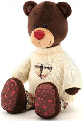 Мягкая игрушка медведь ORANGE Choco в свитере искусственный мех текстиль коричневый 30 см