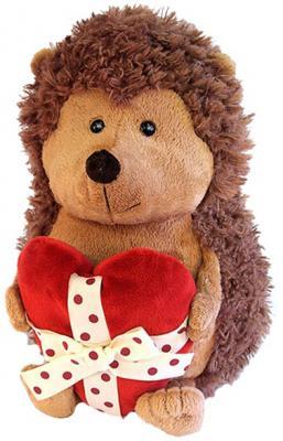 Мягкая игрушка ежик ORANGE Колюнчик с сердечком искусственный мех коричневый 26 см
