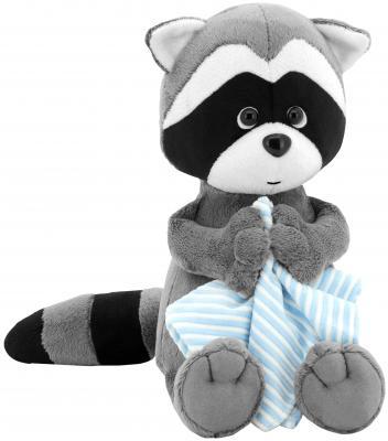 Мягкая игрушка енот ORANGE Дэнни с полотенцем 25 см серый искусственный мех OS616/25 мягкая игрушка orange курочка фрося 25 см 6011 25