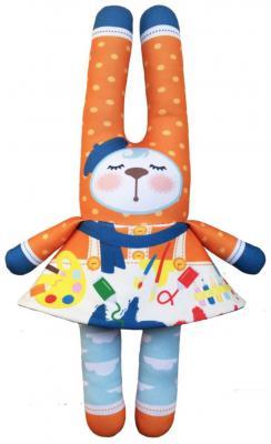 Мягкая игрушка заяц Моя зая 4 в 1 Профессии текстиль разноцветный 42 см