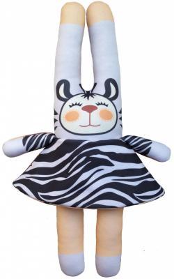 Мягкая игрушка заяц Моя зая 4 в 1 Дикие животные 42 см разноцветный текстиль  И-003