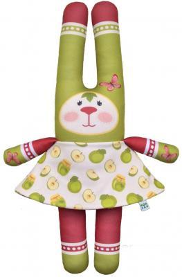 Мягкая игрушка заяц Моя зая 4 в 1 Фрукты 42 см разноцветный текстиль  И-007