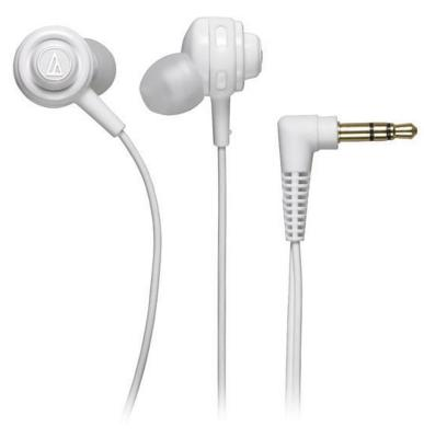 Наушники Audio-Technica ATH-COR150 WH белый technica audio technica ath ar3is свет портативный смартфон гарнитура белый наушники