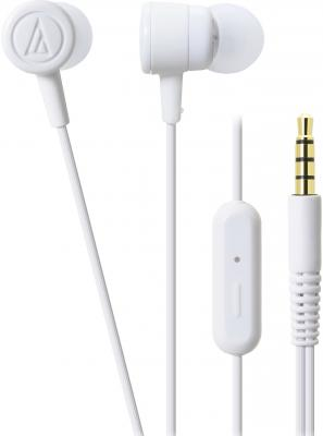 Гарнитура Audio-Technica ATH-CKL220iS WH белый technica audio technica ath ar3bt портативная гарнитура bluetooth для беспроводной гарнитуры синий