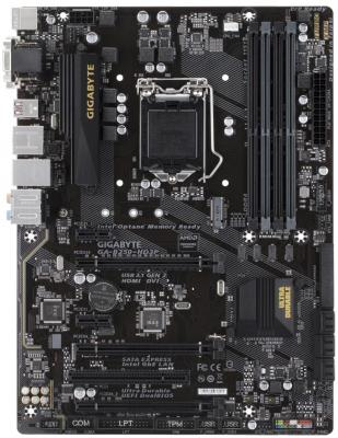 Мат. плата для ПК GigaByte GA-B250-HD3P Socket 1151 B250 4xDDR4 3xPCI-E 16x 1xPCI 2xPCI-E 1x 6xSATAIII ATX Retail