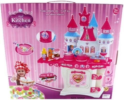 Игровой набор Shantou Gepai Кухня с посудой и продуктами Замок  3552