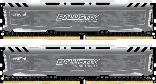 Оперативная память 16Gb (2x8Gb) PC4-19200 2400MHz DDR4 DIMM CL16 Crucial BLS2C8G4D240FSBK память ddr4 4x4gb 2400mhz crucial bls4c4g4d240fsa rtl pc4 19200 cl16 dimm 288 pin 1 2в kit