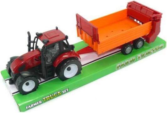 Трактор Shantou Gepai с прицепом бордовый 629760