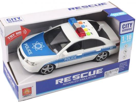 Машина Shantou Gepai Полиция белый 24 см свет, звук