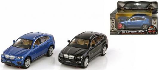 Машина мет.Пламенный мотор 1:32 BMW X6, свет, звук, откр.двери, капот, багажник, цвета в ассорт., 13см